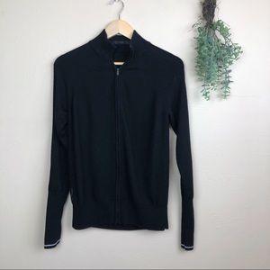 Icebreaker   Merino Wool Zip Up Jacket Stripe